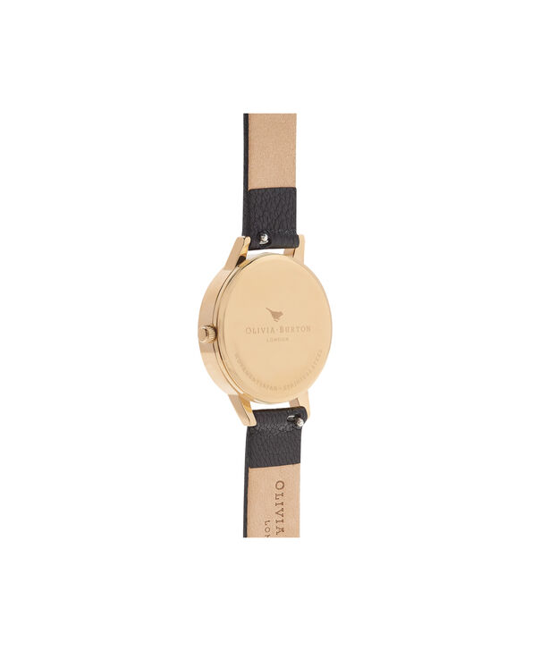 OLIVIA BURTON LONDON  Marble Floral Black & Gold Watch OB16CS11 – Midi Dial Round in Floral Sand and Black - Back view