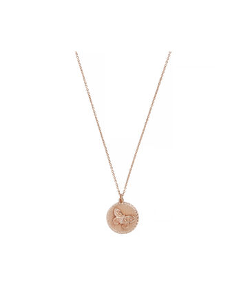 OLIVIA BURTON LONDON 3D Butterfly Disc NecklaceOBJ16MBN02 – 3D Butterfly Pendant - Front view