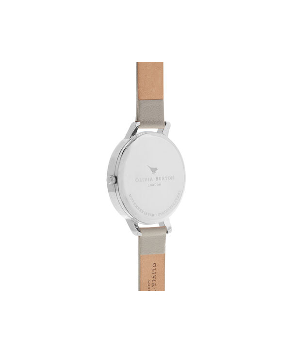 OLIVIA BURTON LONDON  Big Dial Grey And Silver Watch OB15BD57 – Big Dial Round in Silver and Grey - Back view