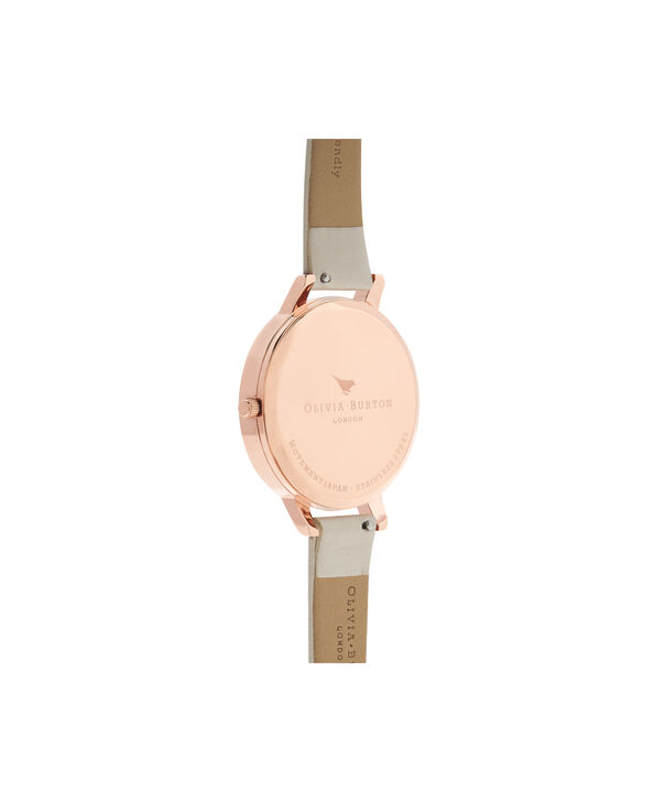 OLIVIA BURTON LONDON  Abstract Florals Vegan Nude & Rose Gold OB16VM25 – Big Dial Round in Nude and Rose Gold - Back view