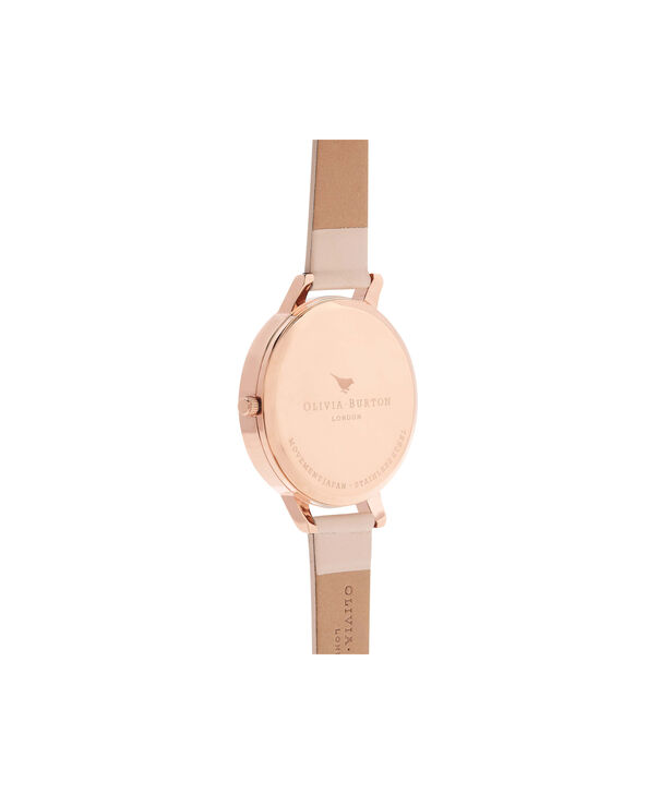 OLIVIA BURTON LONDON  Big Dial Nude Peach, Rose Gold & Silver Watch OB16BDW21 – Big Dial Round in White and Peach - Back view