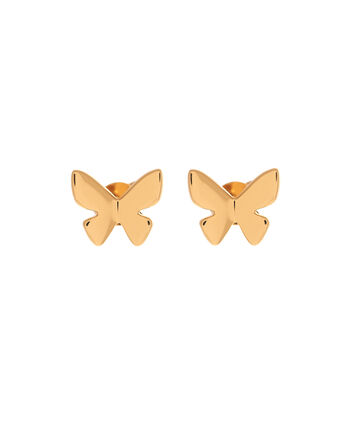 OLIVIA BURTON LONDON  Social Butterfly Stud Earrings Gold OBJ16SBE01 – Social Butterfly Stud Earrings - Front view