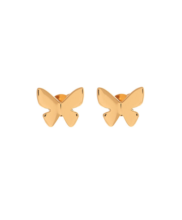 Ladies Social Butterfly Stud Earrings Gold | Olivia Burton London