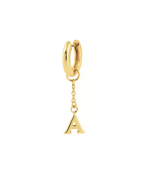 OLIVIA BURTON LONDON  A Alphabet Huggie Charm Gold OBJ16HCGA – Charms - Side view