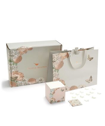 OLIVIA BURTON LONDON Signature Grey Gift Wrap set840048008 – Gift Wrap in Grey - Front view