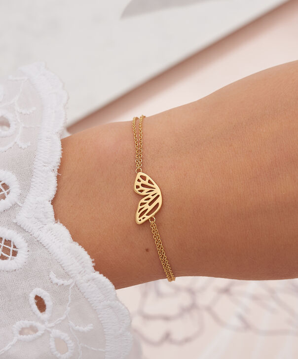OLIVIA BURTON LONDON  Butterfly Wing Chain Bracelet GoldOBJ16EBB01 – Butterfly Wing Chain Bracelet - Other view