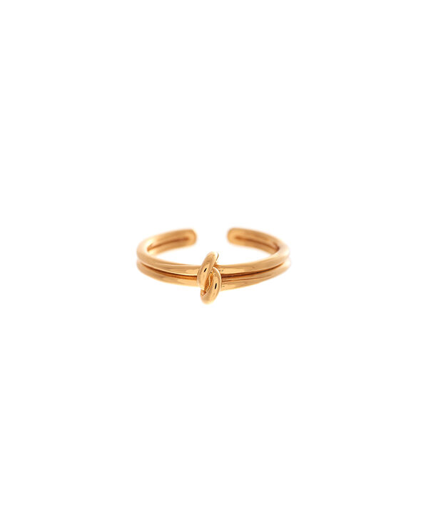 OLIVIA BURTON LONDON  Forget Me Knot Ring GoldOBJ16KDR01 – Forget Me Knot Ring - Front view