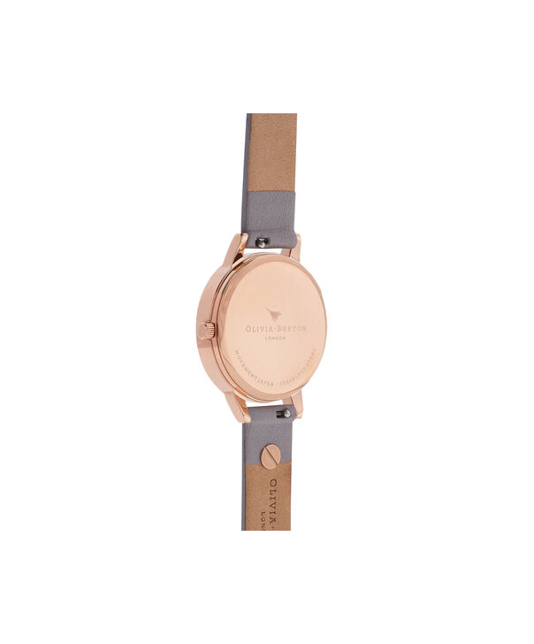 OLIVIA BURTON LONDON  Enchanted Garden Grey Lilac & Rose Gold Watch OB16ES05 – Midi Dial Round in Rose Gold and Grey Lilac - Back view