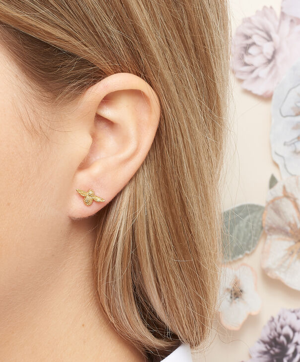 OLIVIA BURTON LONDON 3D Bee Studs Gold OBJ16AME22 – 3D Bee Stud Earrings - Other view