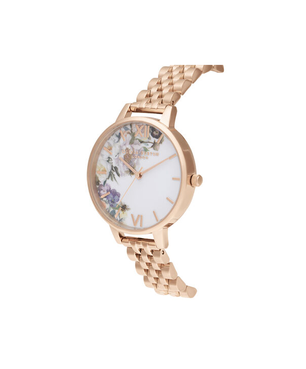 OLIVIA BURTON LONDON Enchanted Garden Demi Rose Gold BraceletOB16EG135 – Demi Dial In Rose Gold And Rose Gold - Side view