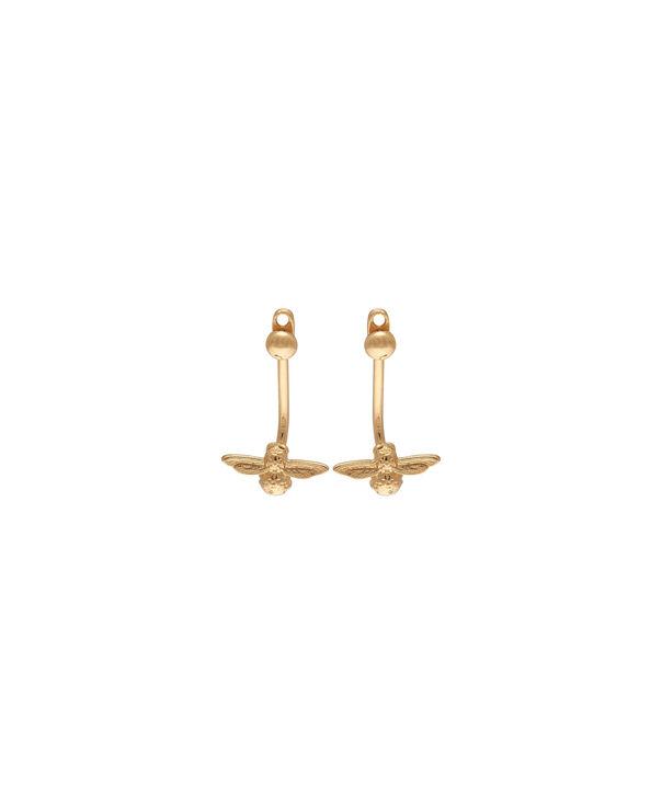 OLIVIA BURTON LONDON  3D Bee Jacket Earrings Gold OBJ16AME01 – 3D Bee Jacket Earrings - Front view
