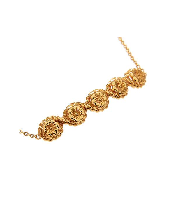 OLIVIA BURTON LONDON Flower Show Rope Chain Bracelet Gold  OBJ16FSB10 – Floral Charm Chain Bracelet - Side view