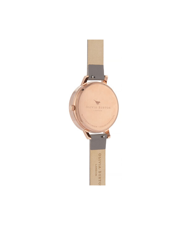 OLIVIA BURTON LONDON Celestial 3D Bee Demi Dial WatchOB16GD06 – Demi Dial in grey and Rose Gold - Back view