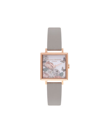 OLIVIA BURTON LONDON Signature FloralsOB16WG41 – Midi Dial in Floral and Rose Gold - Front view