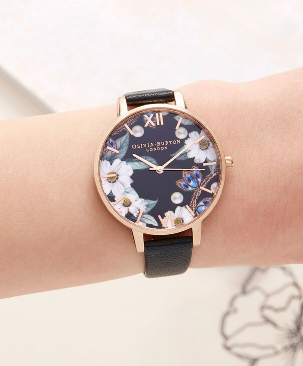 OLIVIA BURTON LONDON  Bejewelled Rose Gold Watch OB16BF04 – Big Dial Round Rose Gold - Other view