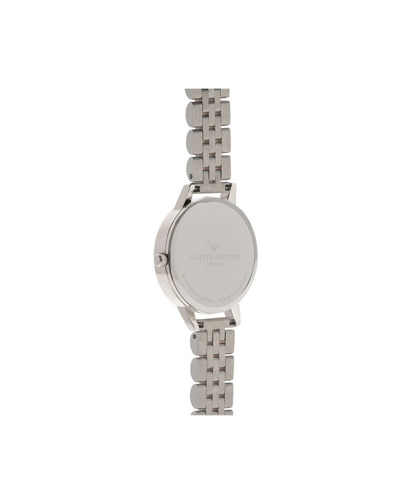 OLIVIA BURTON LONDON  Wonderland Bracelet Silver And Rose Gold Mix Watch OB15WD40 – Midi Dial in Silver and Rose Gold - Back view
