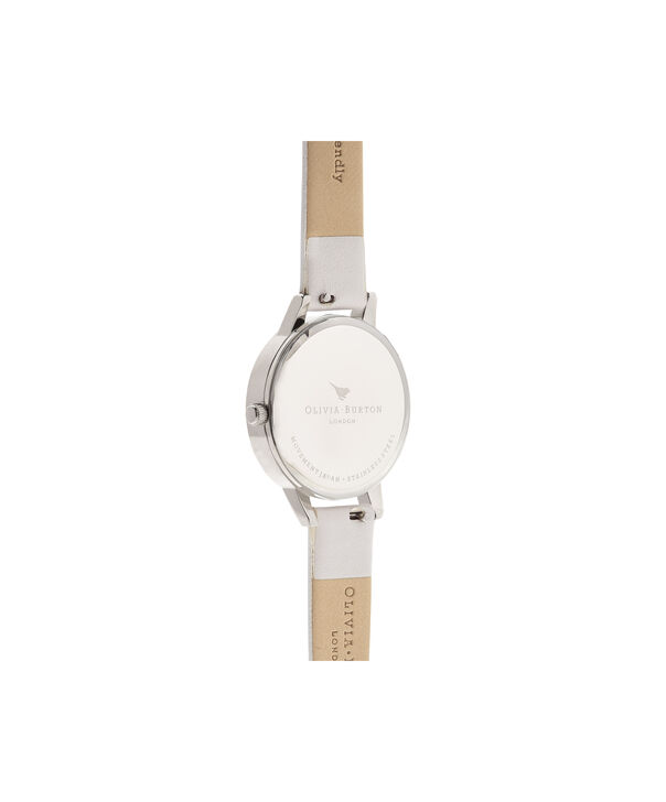 OLIVIA BURTON LONDON Illustrated Animals Vegan Bunny, Blush, Rose Gold & Silver OB16WL71 – Midi Dial Round in Rose Gold and Pink - Back view