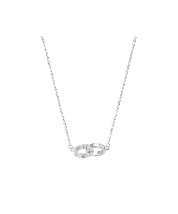 OLIVIA BURTON LONDON Interlink Necklace SilverOBJ16ENN54 – Interlink Necklace Silver - Side view