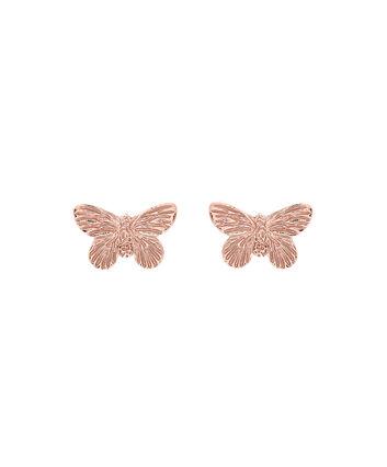 OLIVIA BURTON LONDON 3D Butterfly Stud Earrings Rose GoldOBJ16MBE02 – 3D Butterfly Stud Earrings - Front view