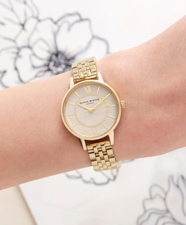 OLIVIA BURTON LONDON  Wonderland Nude Dial & Gold Bracelet OB16WD69 – Midi Dial Round in Gold - Other view