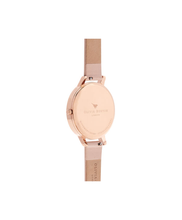 OLIVIA BURTON LONDON  Watercolour Florals Nude Peach & Rose Gold Watch OB16PP30 – Big Dial Round in Floral and Nude Peach - Back view