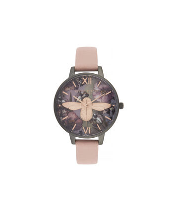 OLIVIA BURTON LONDON Twilight Demi Dial Watch with Lilac Mother-Of-PearlOB16TW02 – Demi Dial in pink and Gunmetal - Front view