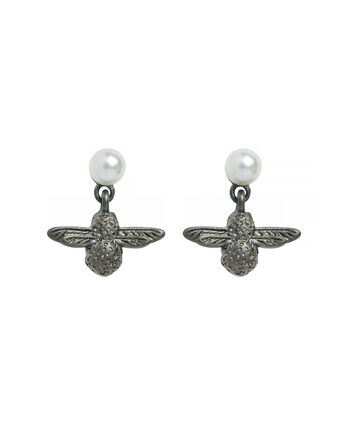 OLIVIA BURTON LONDON Pearl Bee Twilight EarringsOBJ16AME45 – Pearl Bee Stud Earrings - Front view