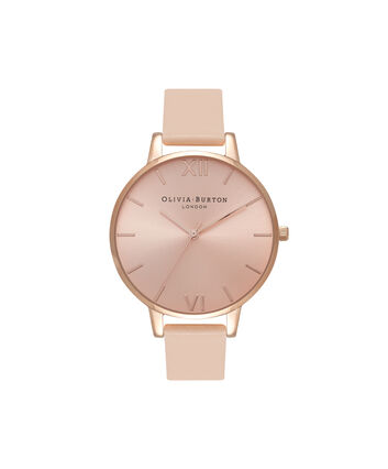 OLIVIA BURTON LONDON  Big Dial Nude Peach & Rose Gold Watch OB16BD94 – Big Dial in Rose Gold and Peach - Front view