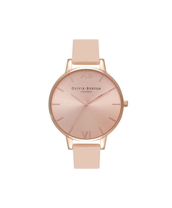 Ladies Big Dial Nude Peach & Rose Gold Watch | Olivia Burton London
