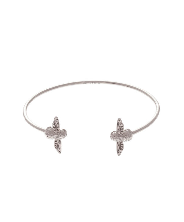 Ladies 3D Bee Open End Bangle Silver | Olivia Burton London