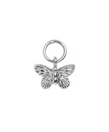 OLIVIA BURTON LONDON  Butterfly Huggie Charm Silver OBJ16MBE06 – Charms - Front view
