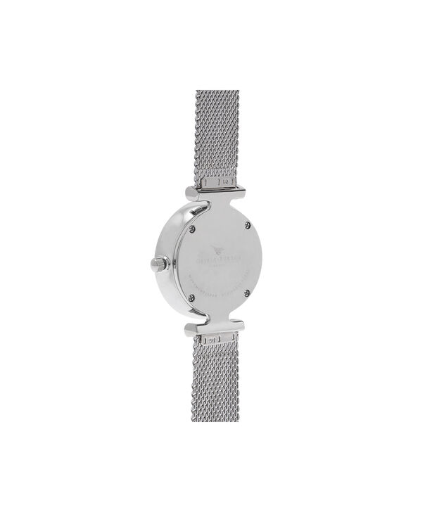 OLIVIA BURTON LONDON  Social Butterfly Silver Mesh Watch OB16MB12 – Midi Dial Round in White and Silver - Back view