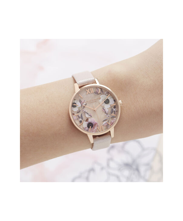 OLIVIA BURTON LONDON Semi Precious Demi Dial WatchOB16SP14 – Demi Dial in pink and Rose Gold - Other view
