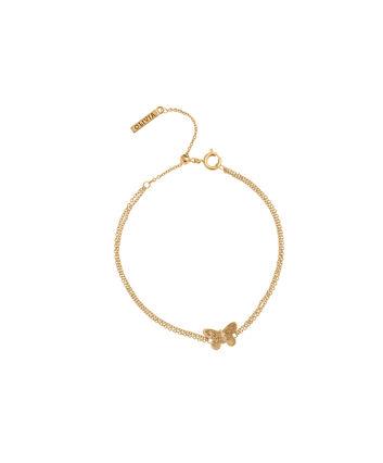 OLIVIA BURTON LONDON  3D Butterfly Chain Bracelet Gold OBJ16MBB01 – 3D Butterfly Chain Bracelet - Front view