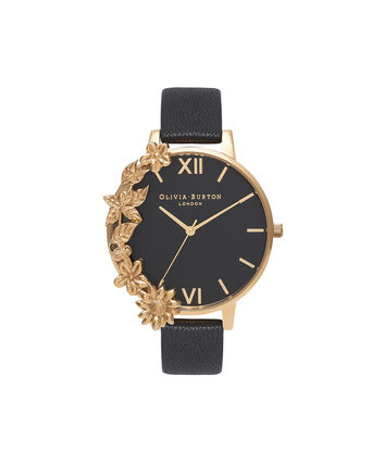 OLIVIA BURTON LONDON Case Cuff Black Dial and GoldOB16CB07 – Removable Case Cuff - Front view