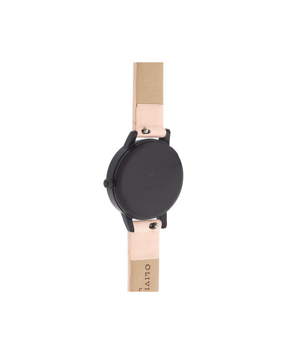 OLIVIA BURTON LONDON  After Dark 3D Bee Nude Peach & Matte Black OB16AD40 – Midi Dial Round in IP Black , Rose Gold and Nude - Back view