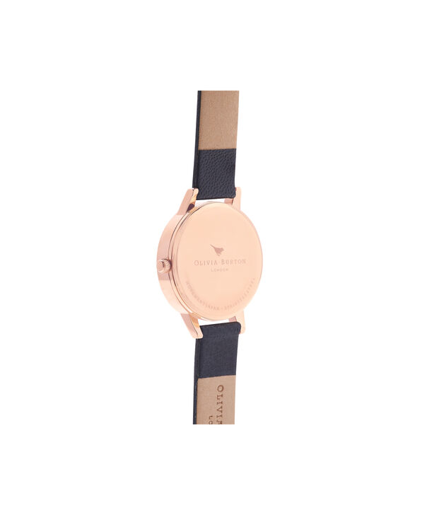 OLIVIA BURTON LONDON  Midnight & Rose Gold Watch OB16MD66 – Midi Dial Round in Navy and Navy - Back view