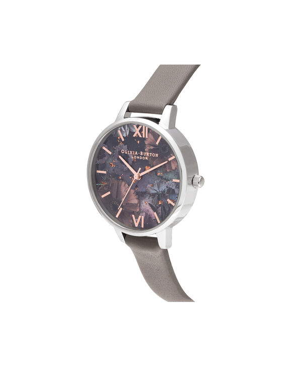 OLIVIA BURTON LONDON Celestial Demi Dial WatchOB16GD26 – Demi Dial in grey and Silver & Rose Gold - Side view