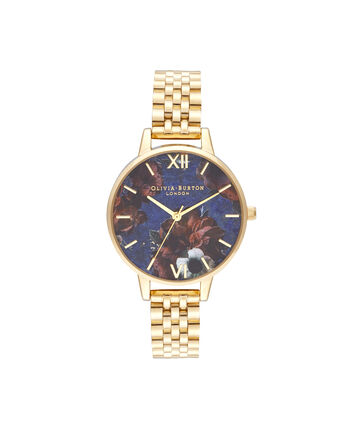 OLIVIA BURTON LONDON Demi Lapis Lazuli & Gold BraceletOB16SP13 – Demi Dial in Gold and Gold - Front view