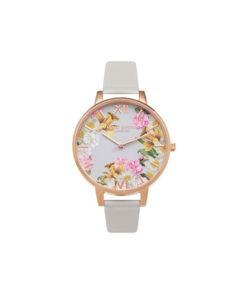 OLIVIA BURTON LONDON Flower ShowOB15FS71 – Big Dial Round in Floral and Blush - Front view