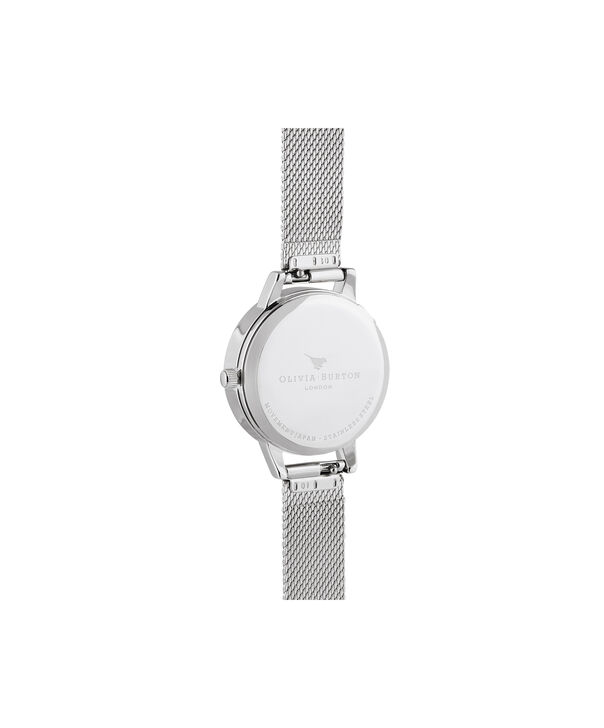 OLIVIA BURTON LONDON Wishing Watch Silver Sunray, Rose Gold & Silver MeshOB16SG03 – Midi Dial In Silver And Silver - Back view