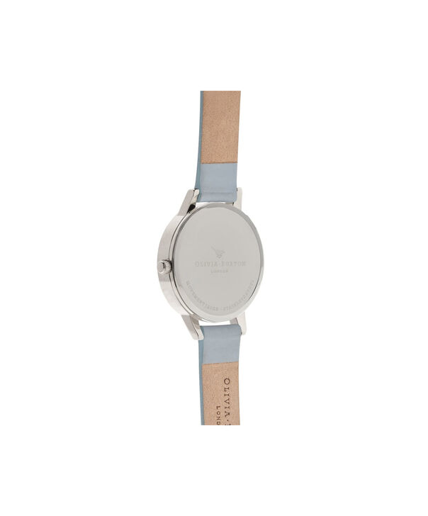 OLIVIA BURTON LONDON  Artisan Dial Chalk Blue & Silver OB16AR03 – Midi Dial Round in Silver and Blue - Back view