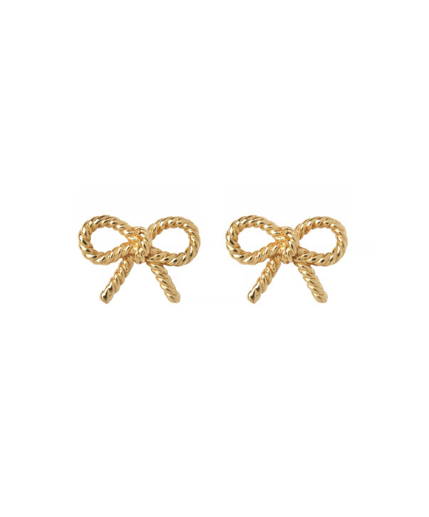OLIVIA BURTON LONDON Vintage Bow Stud EarringsOBJ16VBE22 – Vintage Bow Stud Earrings - Front view