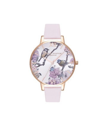 OLIVIA BURTON LONDON Pretty BlossomOB16PL35 – Big Dial Round in Rose Gold and Blossom - Front view