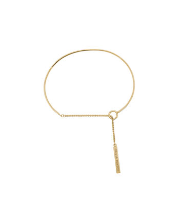 OLIVIA BURTON LONDON  Engravables Drop Bar Bracelet Gold OBJ16ENB07 – Engravable Chain Bracelet - Front view