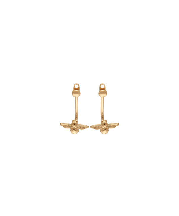 Ladies 3D Bee Jacket Earrings Gold | Olivia Burton London