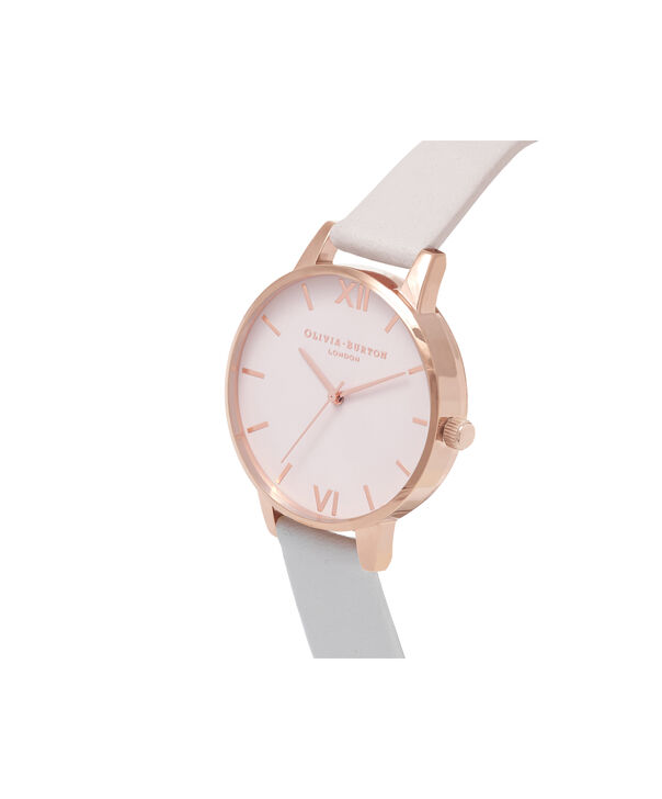 OLIVIA BURTON LONDON  Midi Dial Blush & Rose Gold Watch OB16MD82 – Midi Dial Round inRed Gold and Blush - Side view