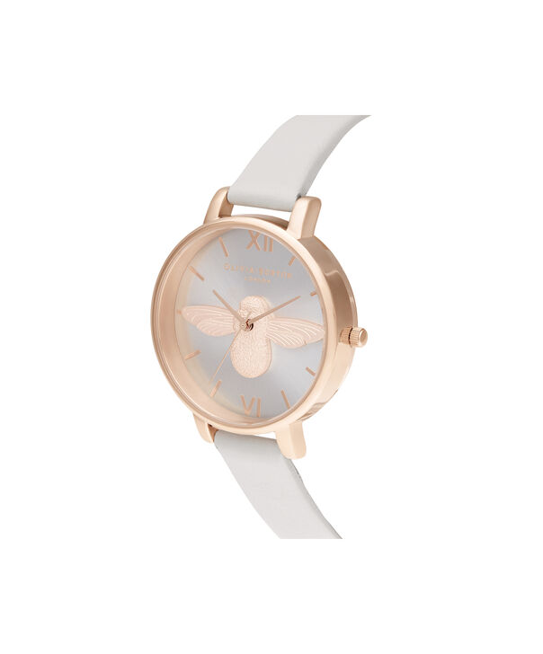 OLIVIA BURTON LONDON 3D Bee Big Dial Blush Sunray Blush & Rose GoldOB16AM158 – Demi Dial In Pink And Rose Gold - Side view