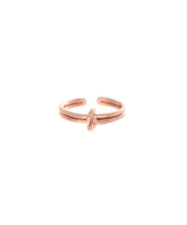 OLIVIA BURTON LONDON  Forget Me Knot Ring Rose GoldOBJ16KDR02 – Forget Me Knot Ring - Front view