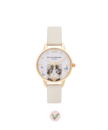 OLIVIA BURTON LONDON Cat Midi Vegan Nude & GoldOB16WL75 – Cat Midi Vegan Nude & Gold - Front view